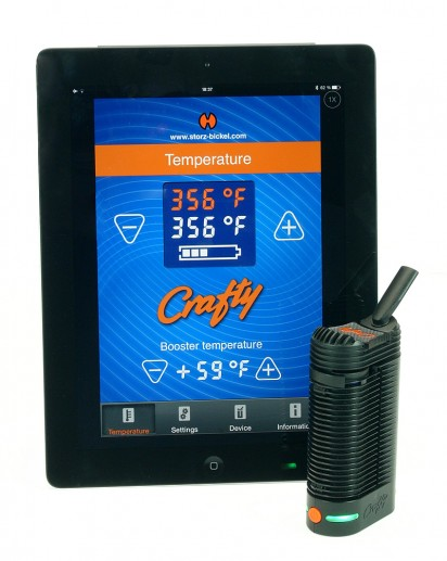 Crafty-vaporisateur-portable-storz-bickel-remote control-smartphone-tablette